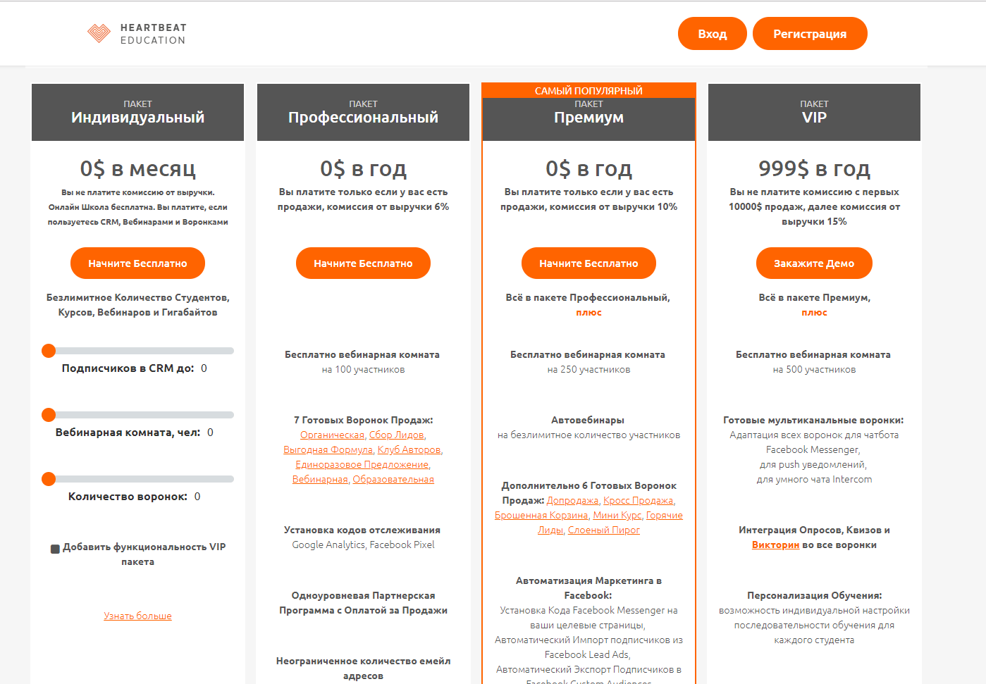 Бесплатные платформы для online-школы heartbeat сервис
