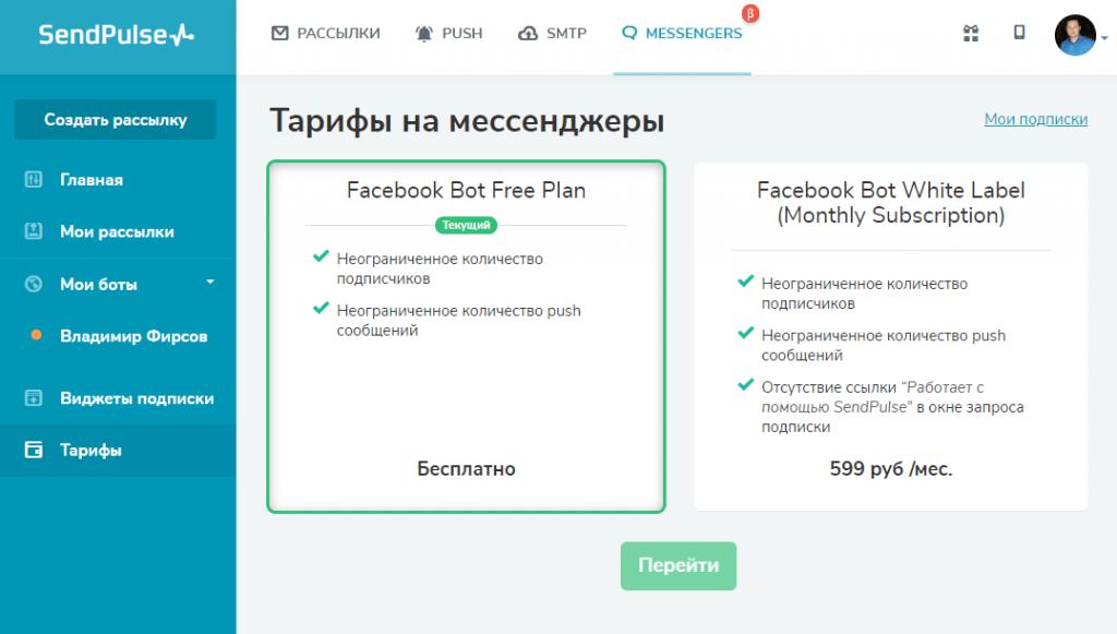 отправка бесплатных электронных сообщений facebook
